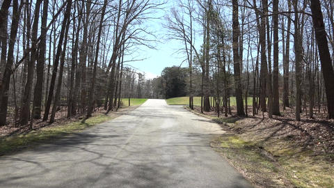 Chancellorsville Civil War site road drive POV 4K 006 ภาพวิดีโอ