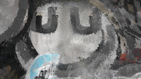 Take away and divide Dark Undeground graffiti 4K Footage