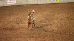 Charro cowboy lasso ride horse P HD 1108 Footage