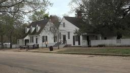 Colonial Williamsburg Virginia main street historic homes 4K 023 Footage