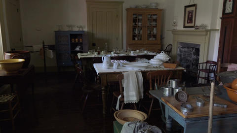 Cove Fort Historic dining room 4K 083 Footage