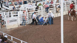 Cowboy injured rodeo P HD 1076 Live Action