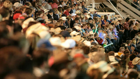 Crowd rodeo shallow group of people shallow DOF P H 1144 Footage