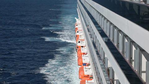 Cruise ship balconies ocean P HD 4269 Footage