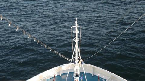 Cruise ship bow ocean P HD 4306 Live Action