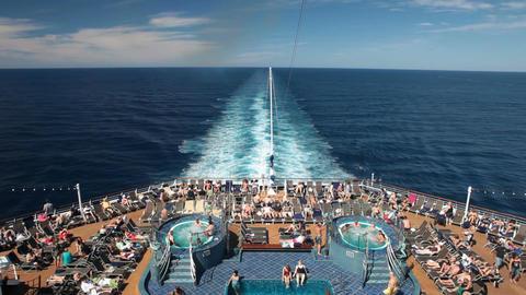 Cruise ship swimming pools P HD 4436 Footage