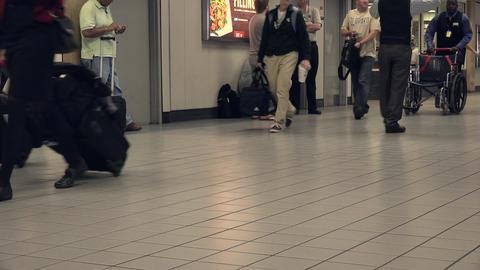Dallas Airport passengers crew passenger legs 4K Footage