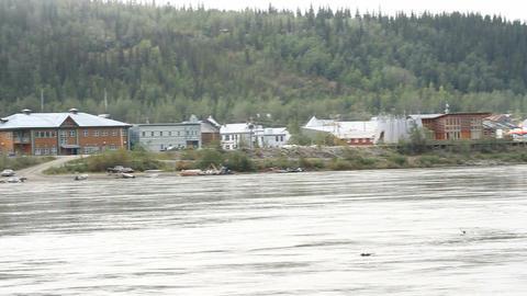 Dawson City Yukon River Canada P HD 1461 Footage