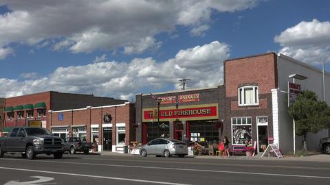 Downtown historic rural community central Utah 4K 084 Archivo