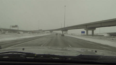 Driving highway snow storm fast timelapse POV HD 0218 Footage