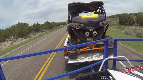 Driving towing off road recreation vehicles fast time laspe POV HD 350 Footage