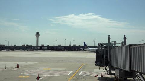 Dulles International Airport aircraft ramps Washington DC 4K 019 Footage