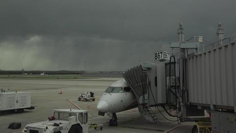 Dulles International Airport aircraft refuel gate Washington DC 4K 029 Footage