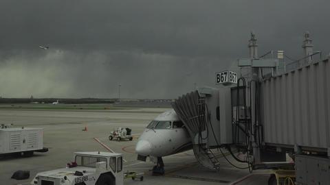Dulles International Airport aircraft refuel gate Washington DC fast 4K 029 Footage