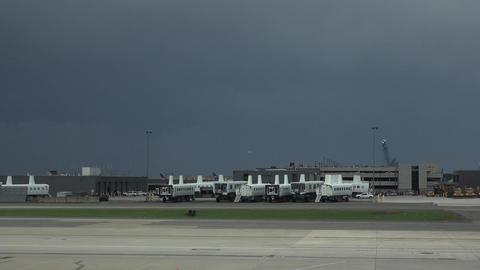 Dulles International Airport aircraft approach ramp Washington DC 4K 024 Footage