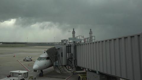 Dulles International Airport pilot pre flights aircraft 4K 032 Footage