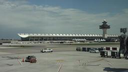 Dulles International Airport ramp vehicles Washington DC 4K 021 Footage