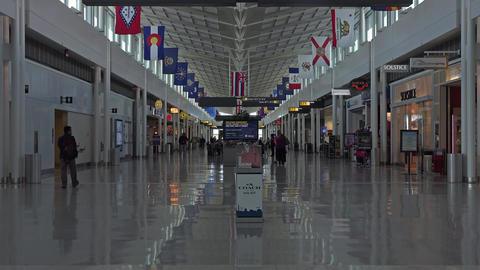Dulles International Airport gate shops Washington DC 4K 017 Footage