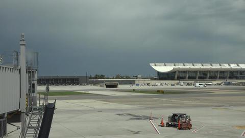 Dulles International Airport aircraft taxi ramp Washington DC 4K 023 Footage