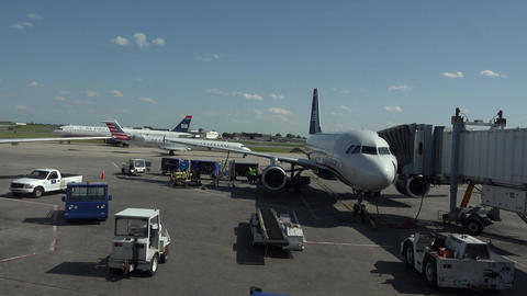Dulles International Airport runway flight operations fast 4K 036 Footage