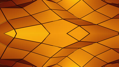 3d rendering triangular geometric surface. Computer generation abstract low poly Live Action
