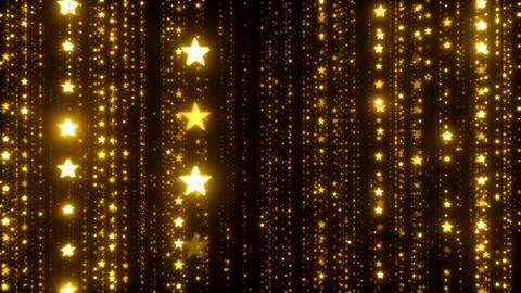 Elegant Stars Background Golden Animation