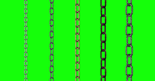 5 types chain metal stainless metal steel metal chains…, Stock Animation