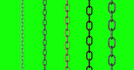 5 types chain metal stainless metal steel metal chains loop stainless loop steel loop chains green Animation