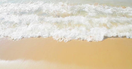 golden sand with beach and tropical sea wave movement, summer time to Live Action