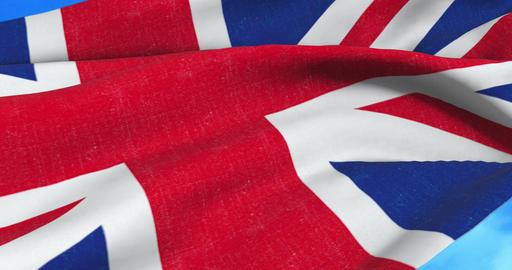 brexit, closeup of waving flag of union jack, uk great britain england symbol, named united kingdom Live Action