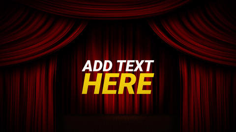 Curtain Stage Open Close Animation with Title Text Transition Motion Graphics Template