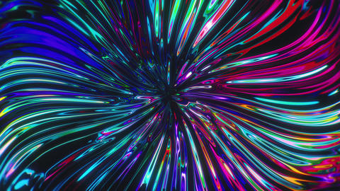 Fluid Refracting Colorful Neon Twirl Animation