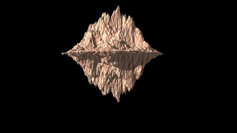 Rock wood texture rotate animation 3d on the black background Animation