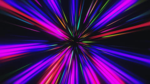 Glowing Multicolored VJ Neon Trails Tunnel Animation