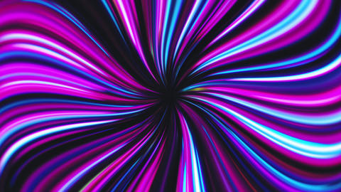 Swirled Pink and Blue Lines Tunnel Animation