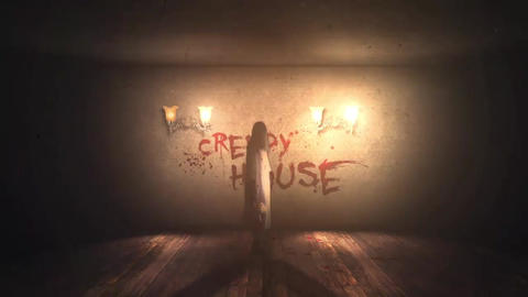 Creepy House Logo or Text Reveal After Effects Template