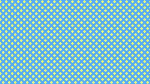 水色と黄色 水玉背景 ループ CG動画