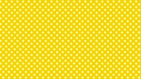 黄色 水玉背景 ループ CG動画