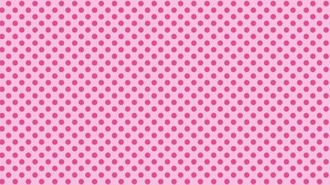 薄いピンク 水玉背景 ループ CG動画