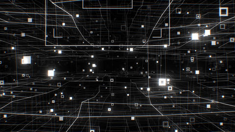 Working Internet Network Structure Seamless. Looped 3d Animation of Beautiful Live Action