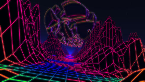 Neon Flight Under Broken Sphere CG動画
