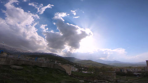 cloudy sky in the mountain GIF