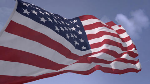 USA Flag with alpha (HD) Animation
