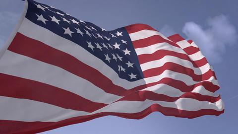 USA Flag with alpha (4K) Animation