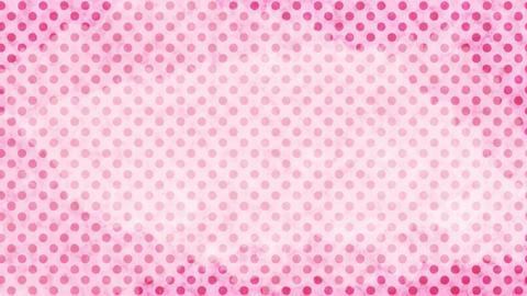 薄いピンク 水玉水彩背景 ループ CG動画