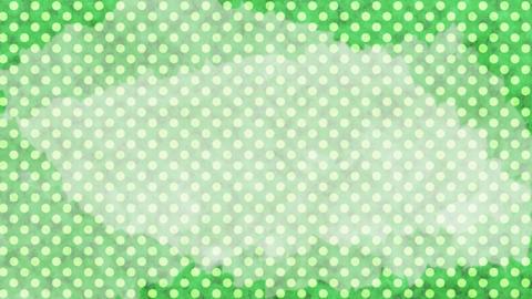 緑 水玉水彩背景 ループ CG動画