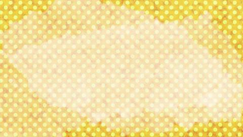 黄色 水玉水彩背景 ループ CG動画