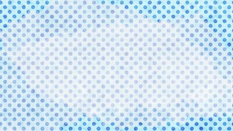 水色 水玉水彩背景 ループ CG動画