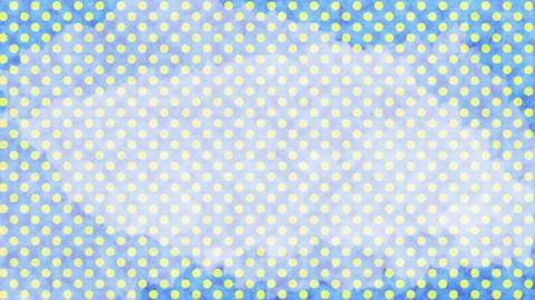 水色と黄色 水玉水彩背景 ループ CG動画