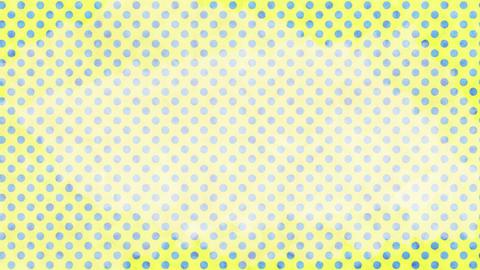 黄色と水色 水玉水彩背景 ループ CG動画